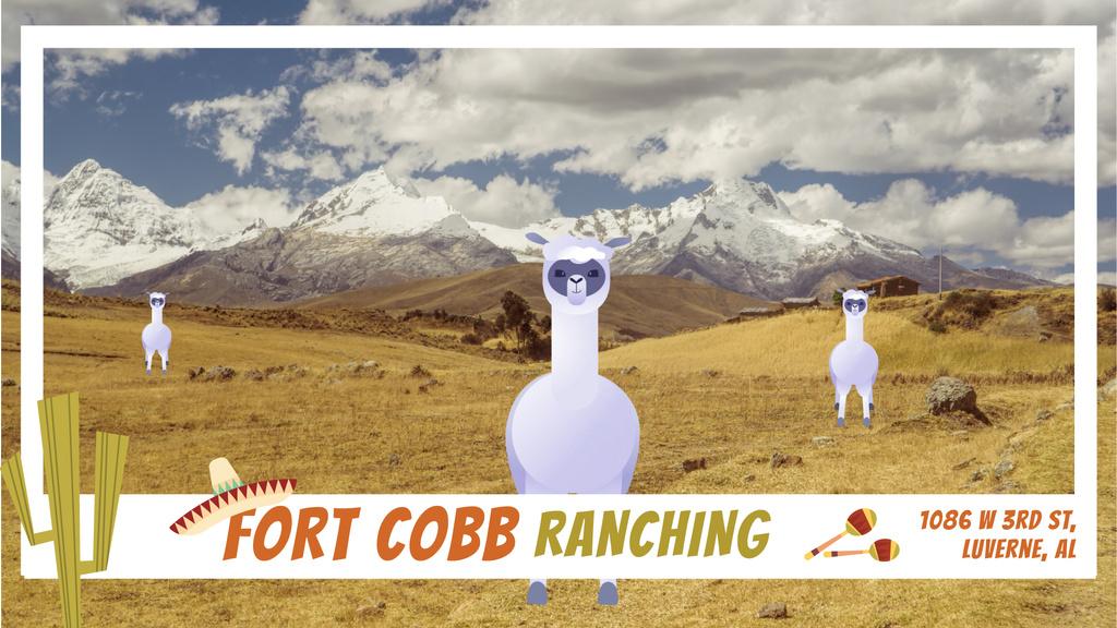 Funny Lamas in Pampas | Full Hd Video Template — Créer un visuel