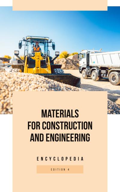 Bulldozer on Construction Site Book Cover Modelo de Design