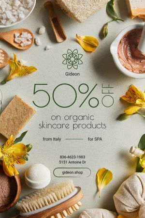 Template di design Natural Skincare Products Offer Soap and Salt Tumblr