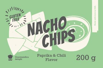 Nacho Chips ad in green