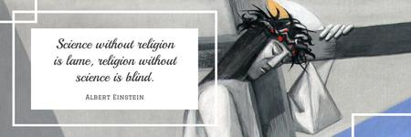 Modèle de visuel Citation about science and religion - Twitter