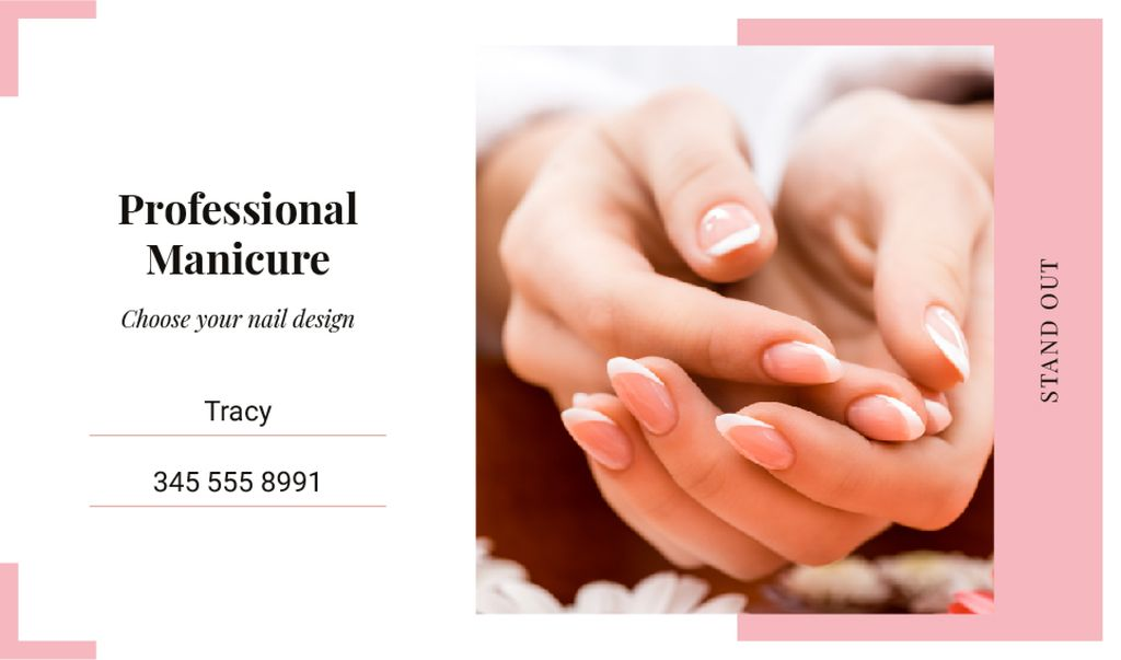 Female hands with manicure — Créer un visuel