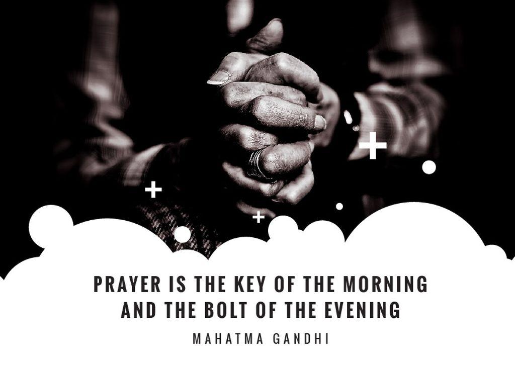 Hands Clasped in Religious Prayer — Crear un diseño