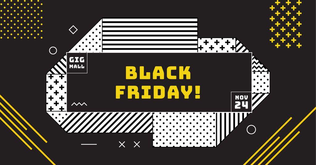 black friday poster facebook ad template design online crello