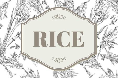 Rice products company ad Label Modelo de Design