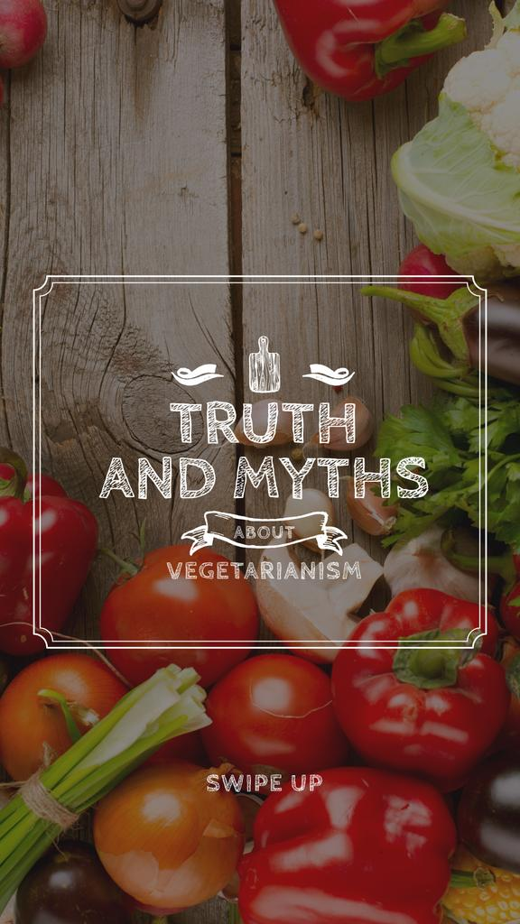Vegetarian Food Vegetables on Wooden Table — Maak een ontwerp