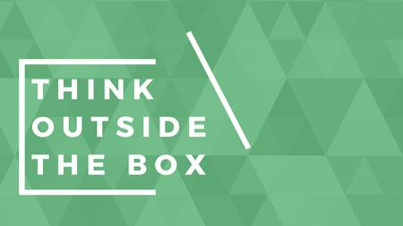 Plantilla de diseño de Think outside the box quote on green pattern Title