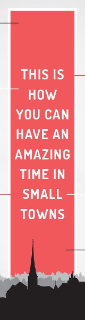Citation about amazing time in small towns — Crear un diseño
