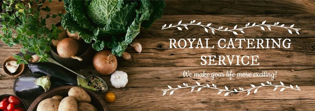 Catering Service Ad Vegetables on Table | Tumblr Banner Template — Створити дизайн
