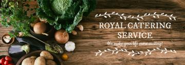 Catering Service Ad Vegetables on Table | Tumblr Banner Template