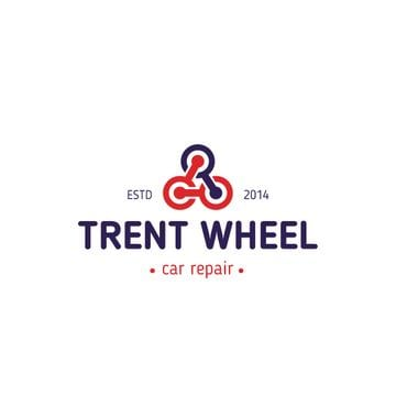 Car Repair Services Wheels in Triangle | Logo Template