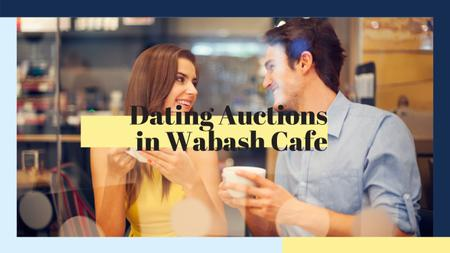 Ontwerpsjabloon van Youtube van Dating Auction in Cafe
