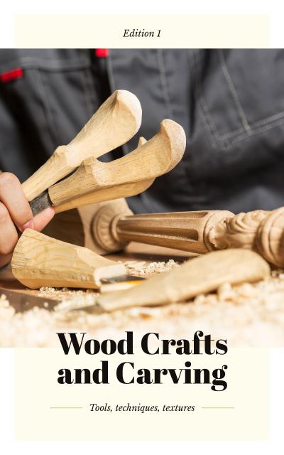 Man in Wooden Craft Workshop Book Cover – шаблон для дизайна