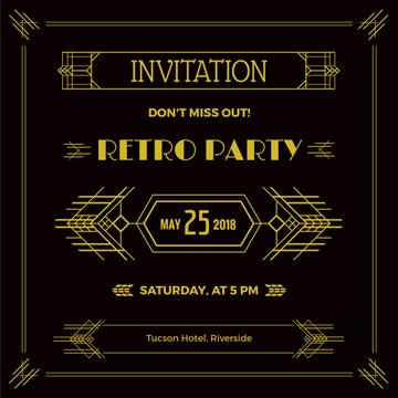 Retro party invitation