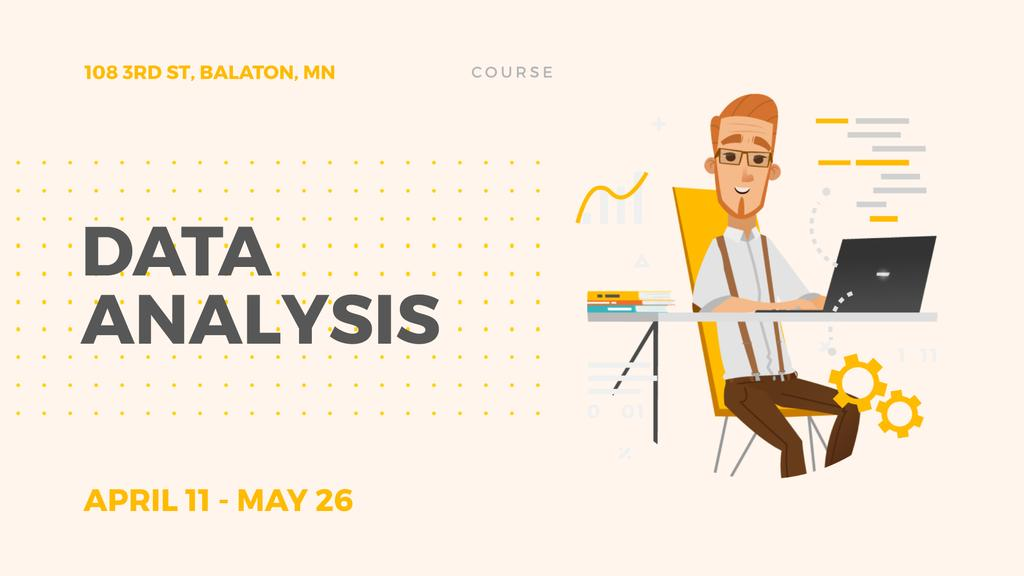 Data Analysis for Business Man Working on Laptop — Maak een ontwerp
