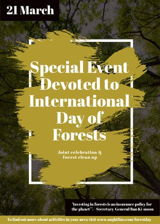 Template di design International Day of Forests Event Tall Trees Flayer