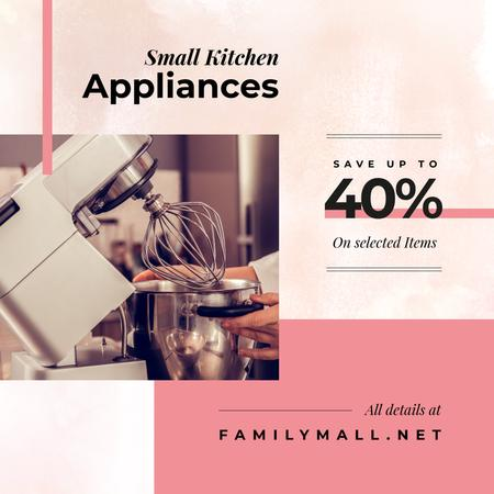 Modèle de visuel Chef cooking with mixer for Appliances Sale - Instagram AD