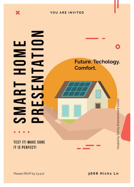 Futuristic Smart home concept Invitation Tasarım Şablonu