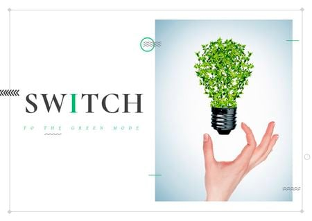 Template di design Switch to the green mode Postcard