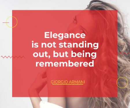 Plantilla de diseño de Citation about Elegance being remembered Medium Rectangle