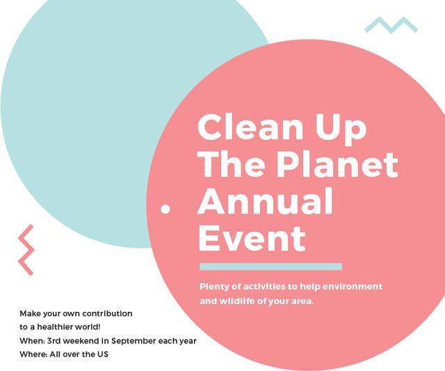 Modèle de visuel Clean up the Planet Annual event - Large Rectangle
