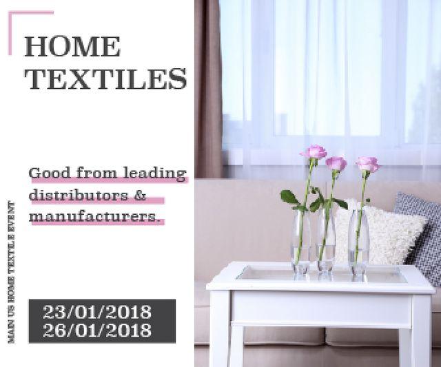 Home textiles global tradeshow Large Rectangle Modelo de Design