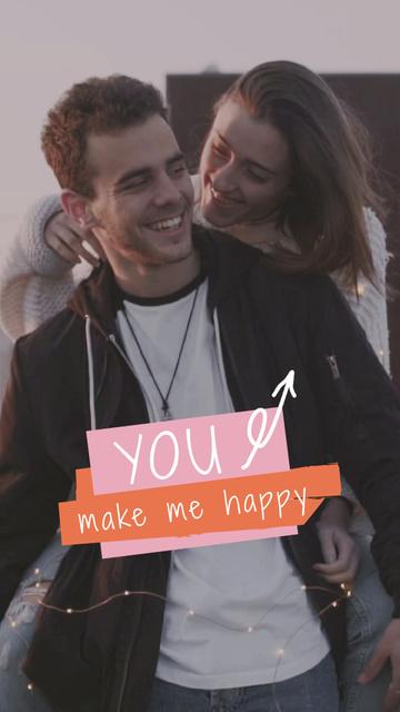 Plantilla de diseño de Happy Young Couple together TikTok Video