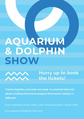 Aquarium and Dolphin show Poster Modelo de Design
