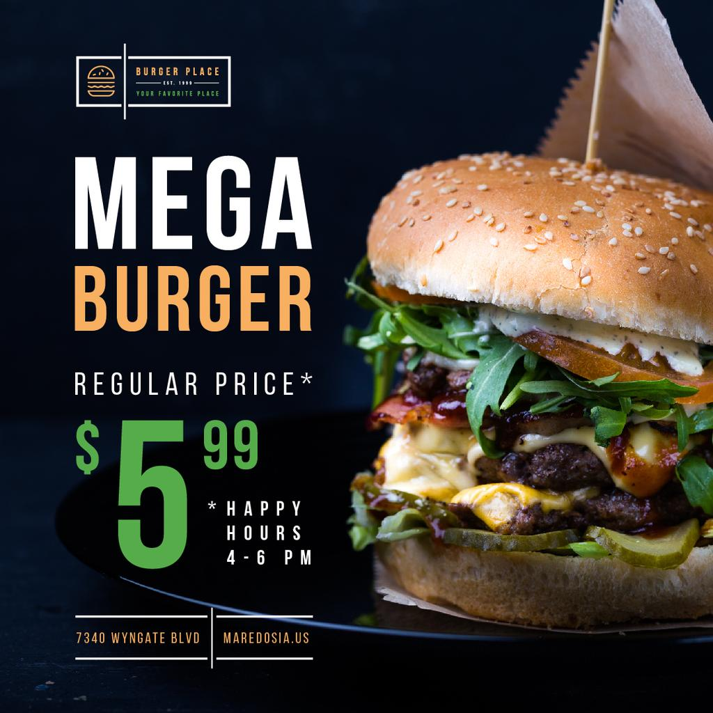 Fast Food Menu with Tasty Burger —デザインを作成する