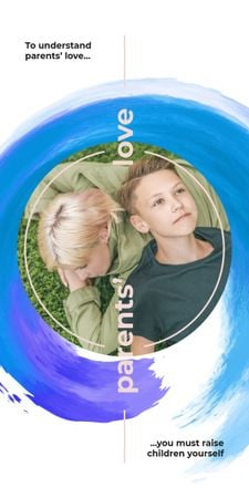 Mother and son lying on grass Graphic – шаблон для дизайну