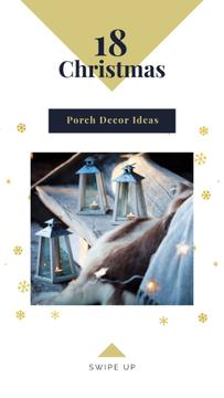 Decorative lanterns with candles on Christmas