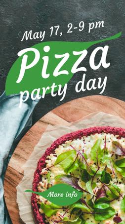 Pizza Party Day Ad Instagram Story Design Template