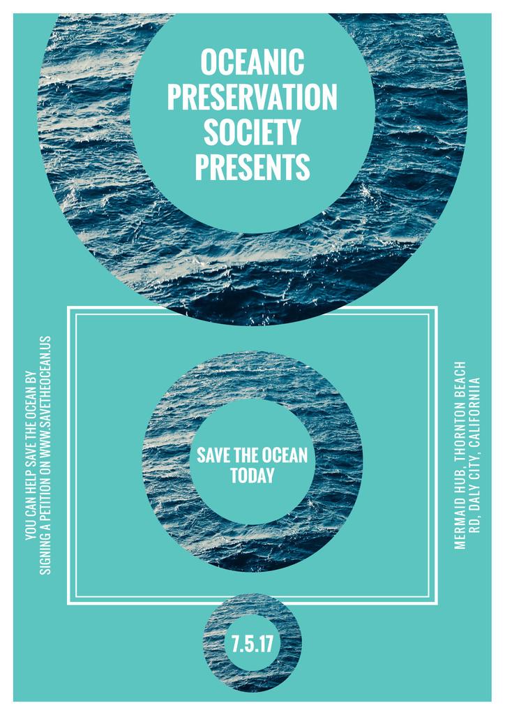 Save the ocean event poster — ein Design erstellen