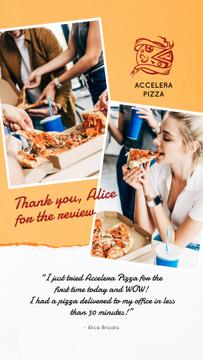 Restaurant Review People Eating Pizza | Stories Template