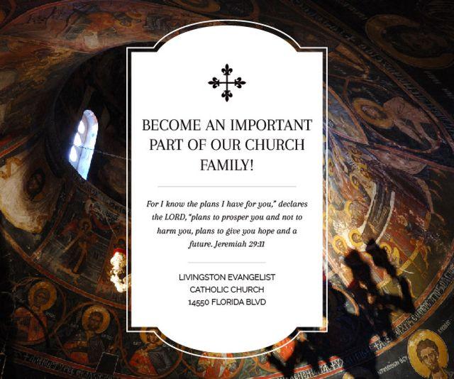 Livingston Evangelist Catholic Church Medium Rectangle – шаблон для дизайну