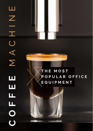 Coffee machine Offer Poster Modelo de Design