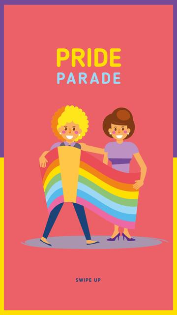 Girls at pride parade Instagram Story – шаблон для дизайну