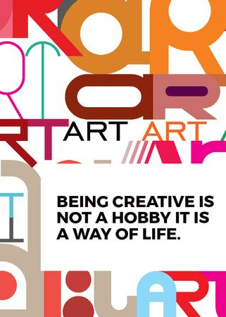 Ontwerpsjabloon van Flayer van Creativity Quote on colorful Letters
