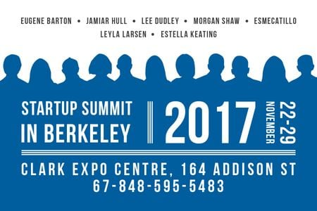 Startup summit in Berkeley Gift Certificate – шаблон для дизайну