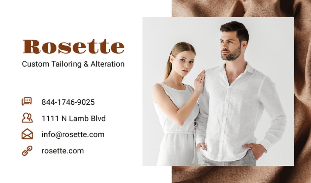 Atelier Ad with Couple in White Clothes — Создать дизайн