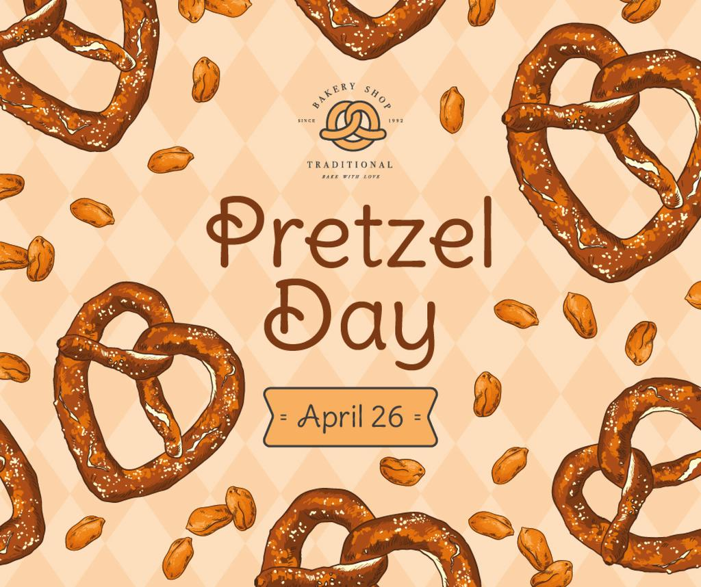 Delicious baked treats for Pretzel day — Crear un diseño