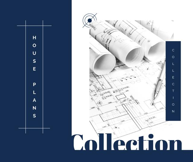 Architectural prints on table Facebook – шаблон для дизайна