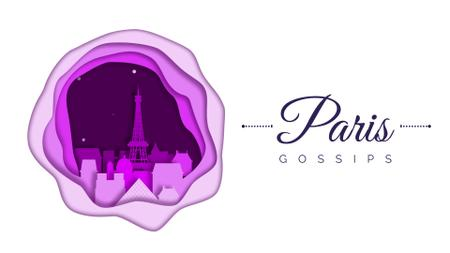Plantilla de diseño de Paris famous travelling spots Full HD video
