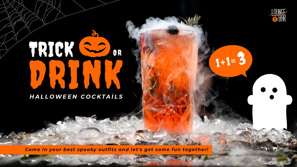 Trick or Treat Halloween Drink Offer Cocktail Glass —デザインを作成する