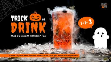 Trick or Treat Halloween Drink Offer Cocktail Glass