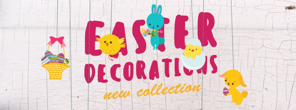 Easter decorations with animals — Modelo de projeto