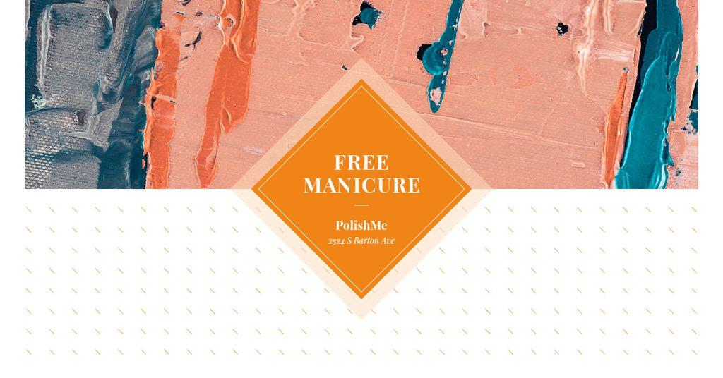 Modèle de visuel Manicure Offer with Colorful paint blots - Facebook AD