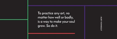 Citation about practice to any art Twitter – шаблон для дизайну