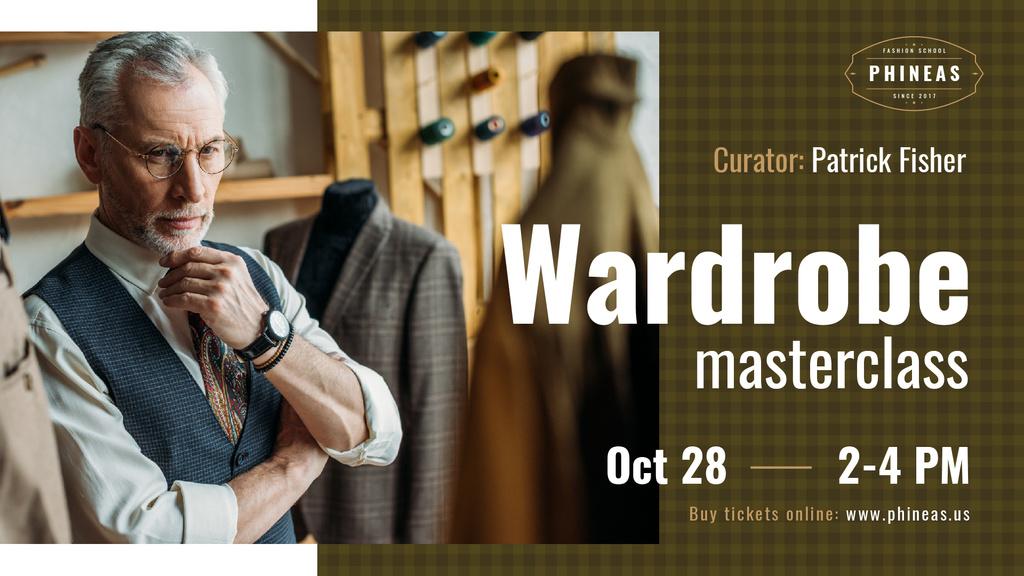 Tailoring Masterclass Man looking at bespoke Suit — Crea un design