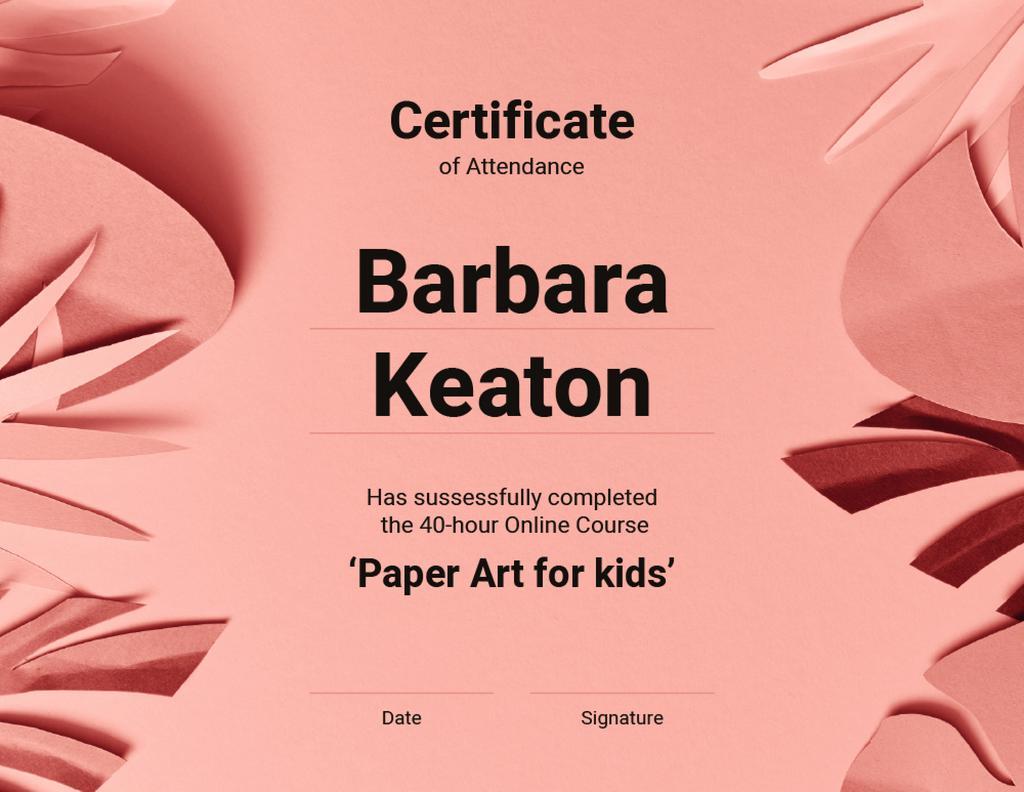 Origami Online Course Attendance confirmation — Crea un design